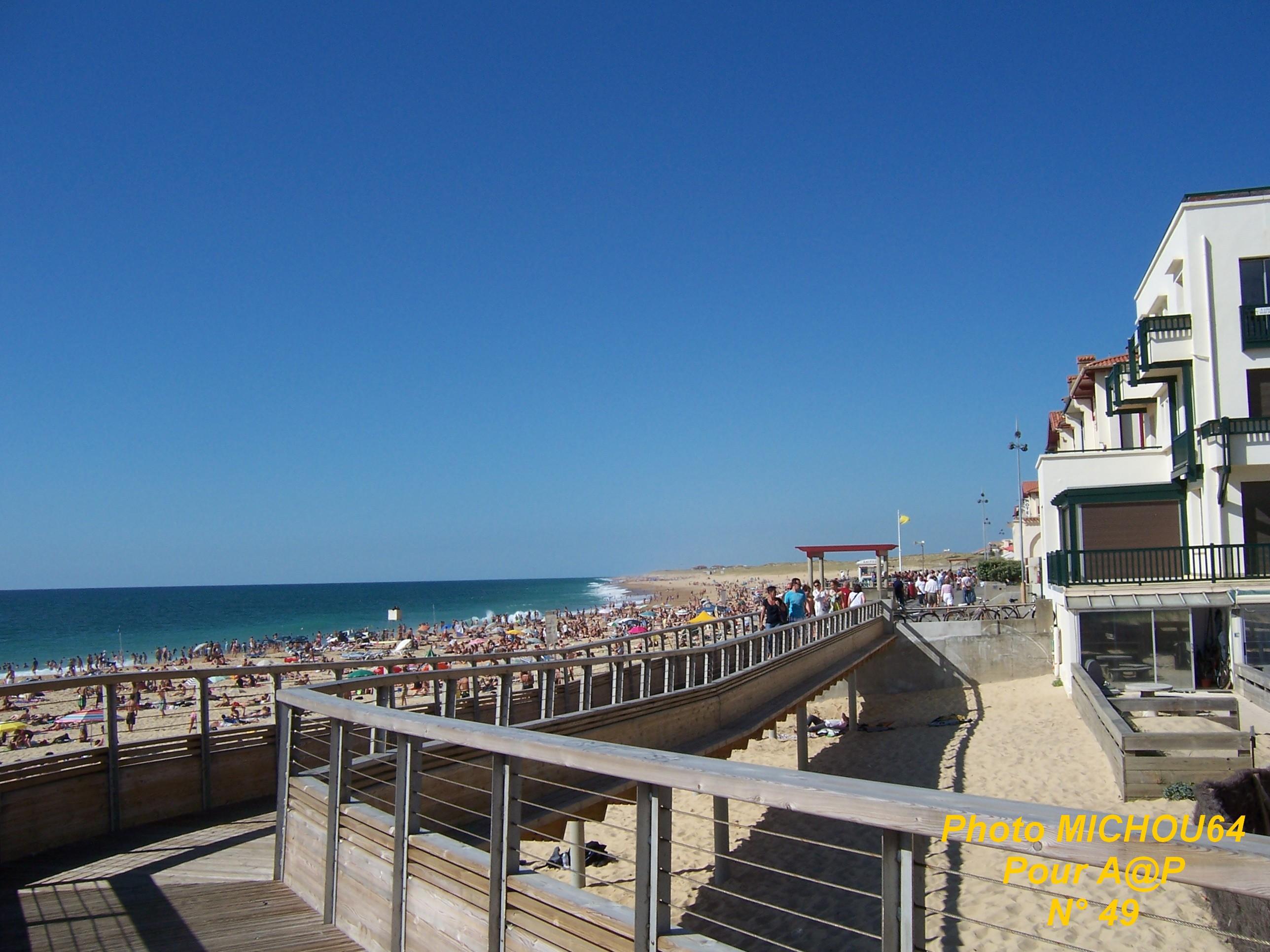 Pau carnets de vacances iv hossegor la plage centrale altern tives p loises - La cote la centrale ...